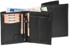 Rinaldo® Hochformat Riegelbörse aus weichem Rinds-Nappaleder in Schwarz