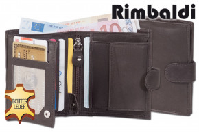 Rimbal®- Small purse in portrait mode with indoor and outdoor bar made from natural cow leather in d