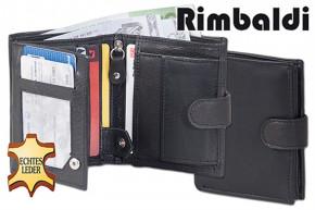 Rimbaldi® Kleine Geldbörse im Hochformat mit Innen- und Außenriegel aus naturbelassenem Rindsleder