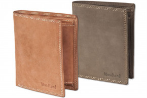 Woodland® - wallet portrait in natural, soft buffalo leather in cognac