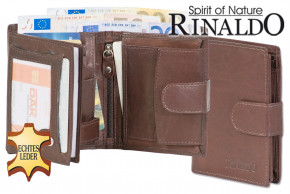 Rinaldo® Universal Women's wallet with outside-loop made with smooth dark-brown cow-leather