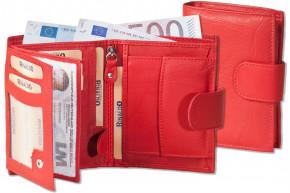 Rinaldo - Damen-Riegelgeldbörse im Hochformat aus besonders weichem, naturbelassenem Rinderleder in Rot
