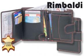 Rimbaldi® Damen-Riegelgeldbörse im Hochformat aus feinem Rinds-Nappaleder