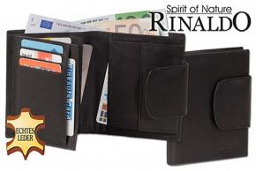 Rinaldo® Damen-Lederbörse mit breitem Außenriegel aus naturbelassenem, glattem Rindsleder