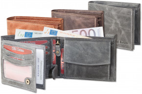 Wild Nature® Wallet in landscape from natural lbuff-eather