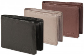 Platino - Bolt wallet in horizontal format from the finest leather with first-class quality in dark-
