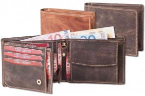 Wild Nature® Loop-Wallet in natural buffalo leather in vintage look / cognac