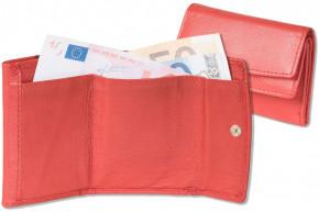 Rinaldo® Kleine Geldbörse mit Protecto® RFID-Blocker Schutz, Hartgeldfach und Geldscheinfach aus weichem Rind Nappaleder in Rot
