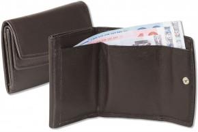 Rinaldo® Kleine Geldbörse mit dem Protecto® RFID/NFC-Blocker Schutz, Hartgeldfach + Geldscheinfach aus weichem Rind Nappaleder in Dunkelbraun