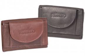 Rinaldo® Mini Geldbörse mit Geldscheintasche, Schlüsseltasche mit Kette und Schlüsselring aus glattem, naturbelassenem Rindsleder