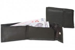 Rinaldo® Micro-Ledergeldbörse aus Rind-Nappaleder in Schwarz