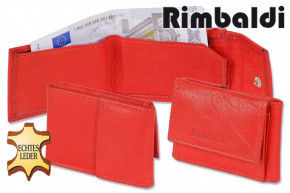 Rimbaldi® Mini-Ledergeldbörse aus naturbelassenem Rindsleder