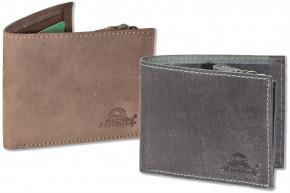 Woodland® Flache Geldbörse aus naturbelassenem Büffelleder