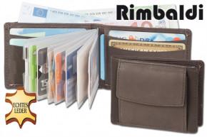 Rimbaldi - Mini-Geldbörse mit Außen-Hartgeldfach aus weichem, naturbelassenem Kalbsleder > IN VERSCHIEDENEN FARBEN ERHÄLTLICH!