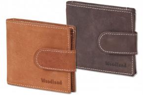 Woodland - Flache Geldbörse mit Geldspange aus feinem naturbelassenem Büffelleder > IN VERSCHIEDENEN FARBEN ERHÄLTLICH!