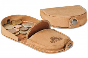 Woodland® Little Shake-wallet made from natural, soft buffalo leather in cognac