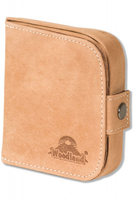 Woodland® Shake-wallet with bill compartment made from natural, soft buffalo leather in Cognac