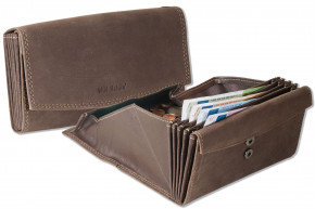 Wild Nature® Professional waiter wallet with specially reinforced coin compartment made of smooth leather in black