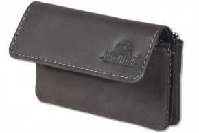 Woodland® Doppel-Schlüsseltasche für Autoschlüssel und Hausschlüssel l aus hochwertigem naturbelassenem Büffelleder in Anthrazit