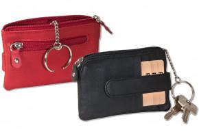 Rinaldo® Schlüsseltasche mit 3 Kreditkartenfächern und kleinem Geldfach aus Rind-Nappaleder