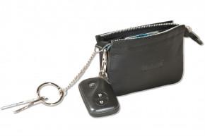 Rimbaldi® Plus RFID CAR PROTECTION Doppel-Schlüsseltasche für den Autoschlüssel und normale Schlüssel in besonders hochwertigem Rindsleder in Schwarz