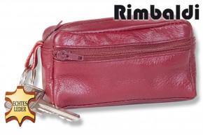 Premium - Große Schlüsseltasche mit Extrafach aus weichem, naturbelassenem Kalbsleder in sortierten Farben