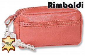 Rimbaldi® Large key pocket with extra compartment made of soft, untreated cowhide in cognac