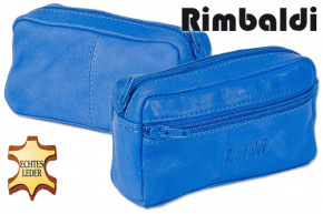 Rimbaldi® Large key pocket with extra compartment made ofsoft, untreated cow leather in royal blue