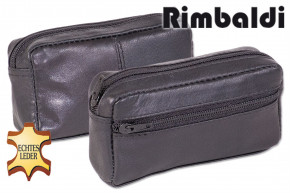 Rimbaldi® Large key pocket with extra compartment made of soft, untreated cow leather in black