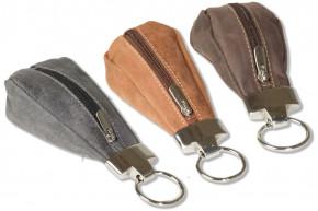 Wild Nature® Luxus-Schlüsseletui mit Extratasche aus naturbelassenem Büffelleder im Vintage-Look