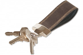Rimbaldi® - Luxury Key Case with extra pocket, made from cow nappa leather in black
