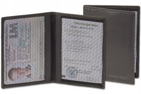 Rimbaldi® Lederetui für den alten Personalausweis und den KFZ-Schein aus weichem Napa-Rindsleder in Schwarz