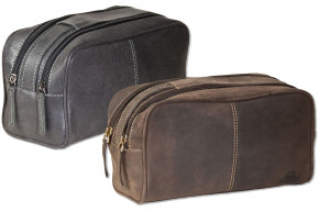 Woodlland® -  leather key bag with 2 key chains made from soft, untreated buff leather in cognac
