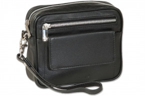 Rimbaldi®Beltbag with practical leather loop made of high-quality nappa leather in Black