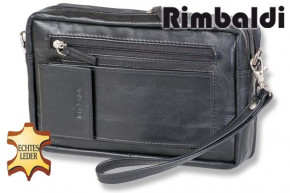 Rimbaldi® Large business wrist / shoulder bag made of fine, high-quality nappa leather in black