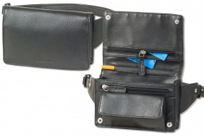 Rimbaldi® Compact luxury belt bag - extremely flat made of fine nappa leather in black