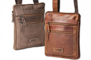 Woodland® Luxury shoulder bag made ​​of natural buffalo leather