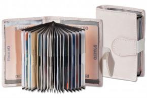 Rinaldo® XXL-Kreditkartenetui mit 18 Kartenfächern aus Rind-Nappaleder in Créme