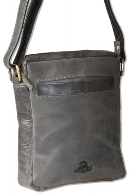 Woodland® Luxury shoulder bag made ​​of natural buffalo leather in anthracite
