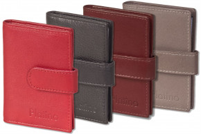 Platino XXL credit card holder with 19 card slots made of soft, natural cow leather