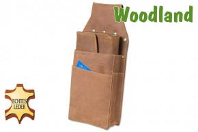 Woodland® Profi Kellnerbörsen-Holster aus weichem, naturbelassenem Büffelleder in Cognac