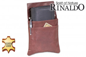 Rinaldo® - Robust waiterholster made of natural buffalo leather in dark brown