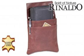 Rinaldo® - Robust waiterholster made of natural buffalo leather in dark brown