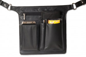 Rimbaldi® - Professional Waiter wallet Holster made of soft, high-quality cow leather in black