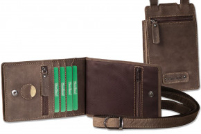 Woodland® - Practical multifunction pouches made of soft, untreated buff in Dark Brown / Taupe
