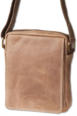Wild Nature® shoulder bag made of natural buffalo leather in brown