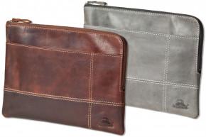 Woodland® Hochwertige Ledertasche für Computer-Tablets