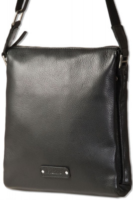Platino - Shoulder bag with small computer compartment made of the best natural cowhide