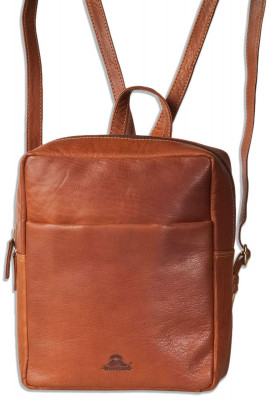 Woodland® Besonders hochwertiger Rucksack aus geöltem Büffelleder im Vintage-Look/Braun