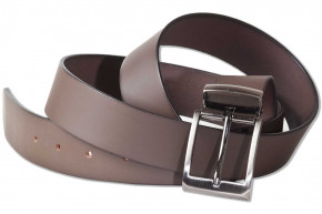 Rimbaldi® - Assortment Full leather belt with metal buckle masssiver smooth buffalo leather - satienert dark-brown